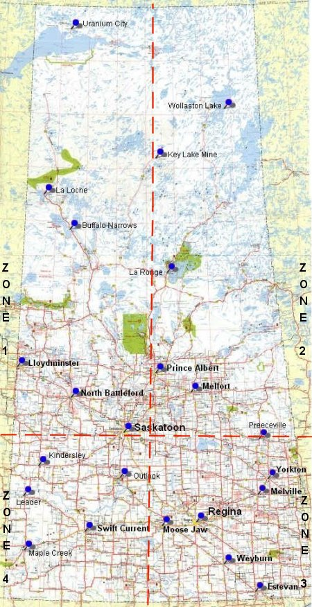 Map Of Sask SLED SASK.| Saskatchewan area map.